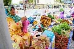 Mercado de Marang domingo Imagen de archivo libre de regalías