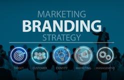 Mercado de marcagem com ferro quente do tipo conceito do nome comercial Imagens de Stock Royalty Free