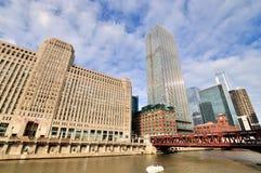 Mercado de mercadoria de Chicago e Chicago River Fotos de Stock Royalty Free