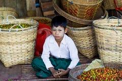 Mercado de Myanmar Imagens de Stock