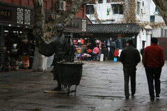 Mercado de Nanjing Fuzimiao, China Fotos de archivo libres de regalías