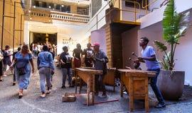 Mercado de Neighbourgoods em Joanesburgo foto de stock