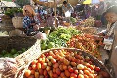 Mercado de Nyaung-U, Myanmar Fotografia de Stock