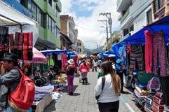 Mercado de Otavalo foto de stock