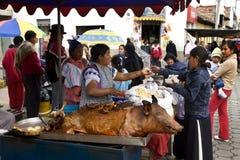 Mercado de Otavalo - Ecuador Imagen de archivo libre de regalías