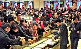 Mercado de ouro Fotografia de Stock Royalty Free