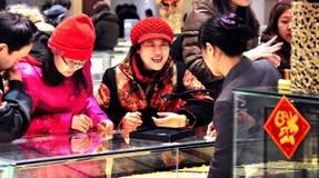 Mercado de ouro Fotografia de Stock