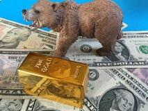 Mercado de ouro Bearish imagem de stock royalty free