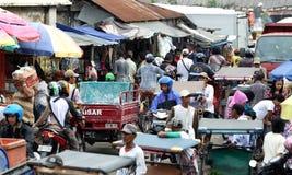 Mercado de Palembang Imagen de archivo libre de regalías