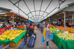 Mercado de pano de Birmingham fotografia de stock royalty free