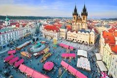 Mercado de Pascua en Praga Foto de archivo libre de regalías
