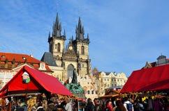 Mercado de Pascua en Praga imagen de archivo