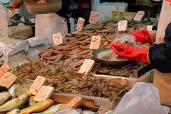 Mercado de peixes Fotos de Stock Royalty Free