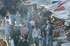 Mercado de peixes Imagens de Stock