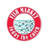 Mercado de peixes 3 Ilustração Royalty Free