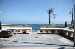 Mercado de peixes ao longo da praia, Noli, Riviera italiano Imagem de Stock Royalty Free