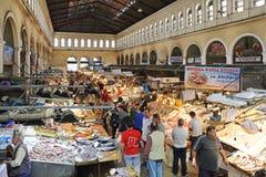 Mercado de peixes Atenas Imagem de Stock Royalty Free