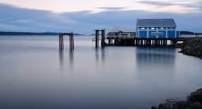 Mercado de peixes, Columbia Britânica litoral fotografia de stock