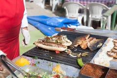 Mercado de peixes de Istambul Imagens de Stock