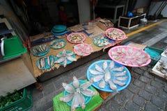 Mercado de peixes de Jagalchi de busan Fotografia de Stock Royalty Free