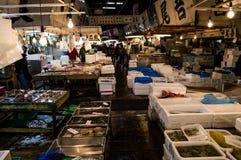 Mercado de peixes de Tsukiji no Tóquio Fotos de Stock Royalty Free