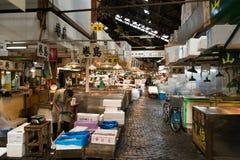 Mercado de peixes de Tsukiji no Tóquio central Foto de Stock Royalty Free