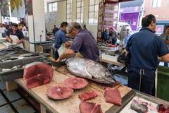 Mercado de peixes em Funchal, ilha de Madeira Imagem de Stock