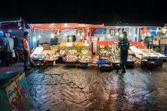 Mercado de peixes em Hong Kong Fotos de Stock Royalty Free