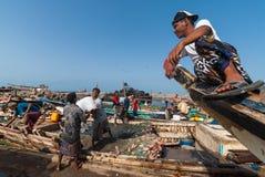 Mercado de peixes em Iémen Foto de Stock Royalty Free
