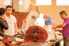 Mercado de peixes Madeira Imagem de Stock Royalty Free