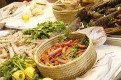 Mercado de peixes na Bolonha Imagens de Stock Royalty Free