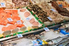 Mercado de peixes no Reino Unido Fotos de Stock Royalty Free