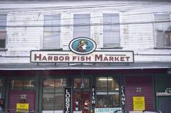 Mercado de peixes Portland do porto Maine imagens de stock royalty free