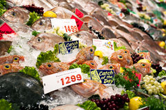 Mercado de pescados Fotos de archivo