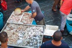 Mercado de pescados, Catania Imagen de archivo libre de regalías