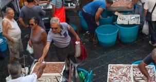 Mercado de pescados, Catania Foto de archivo