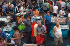 Mercado de pescados, Catania Imagenes de archivo