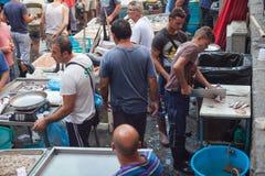 Mercado de pescados, Catania Imágenes de archivo libres de regalías