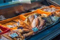 Mercado de pescados de Riga fotografía de archivo