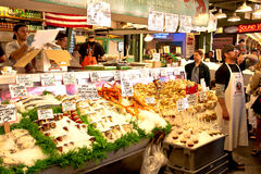 Mercado de pescados del lugar de Pike Fotos de archivo libres de regalías