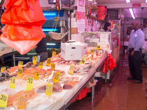 Mercado de pescados en Chinatown en New York City Foto de archivo