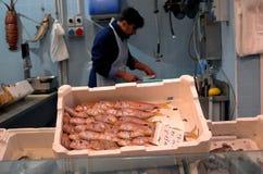 Mercado de pescados en Florencia, Italia Foto de archivo libre de regalías