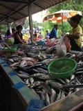 Mercado de pescados en Hong-Kong Foto de archivo libre de regalías