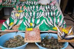 Mercado de pescados en Hong-Kong imagenes de archivo