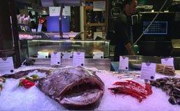 Mercado de pescados en Madrid, España Imagen de archivo