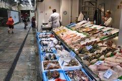 Mercado de pescados en Reino Unido Foto de archivo libre de regalías