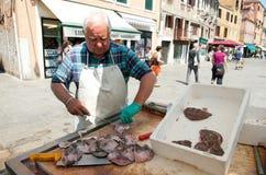 Mercado de pescados en Venecia Fotos de archivo libres de regalías