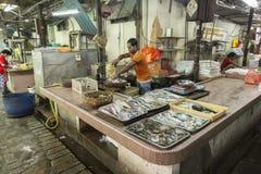 Mercado de pescados Kuala Lumpur, Malasia Fotos de archivo