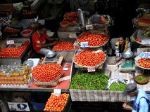Mercado de Port Louis, capital de Maurícias Imagens de Stock Royalty Free