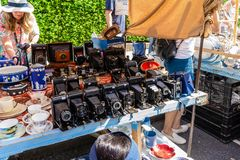 Mercado de Portobello en Notting Hill, Londres, Inglaterra, Reino Unido imágenes de archivo libres de regalías